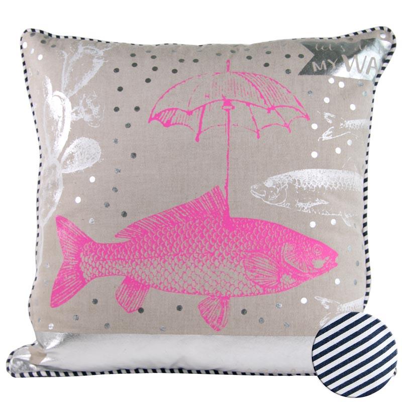 Kissen Fisch Regenschirm Elegant