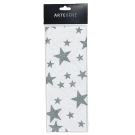 Seidenpapier Sterne Silber