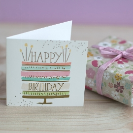 Minikarte Geburtstag Torte