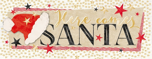 Grußkarte Here comes Santa