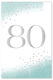 Geburtstagskarte 80