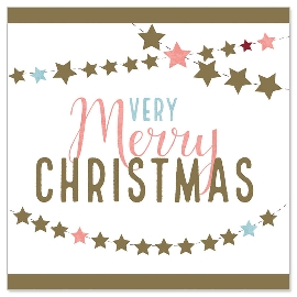Minikarte Weihnachten Girlande Spruch Merry Christmas