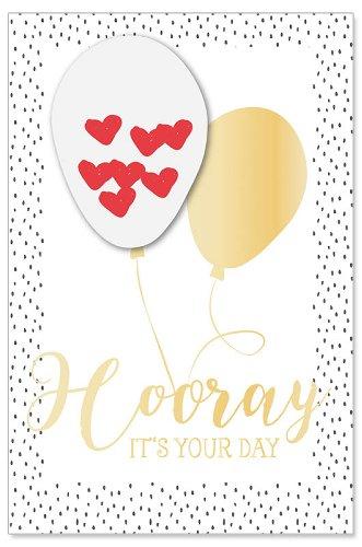 Hochzeitskarte Ballon Hooray It's your Day