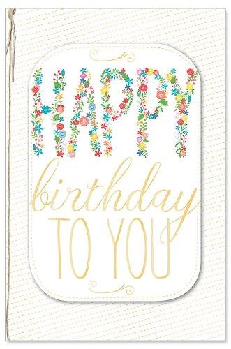 Geburtstagskarte Blüten Happy Birthday to You