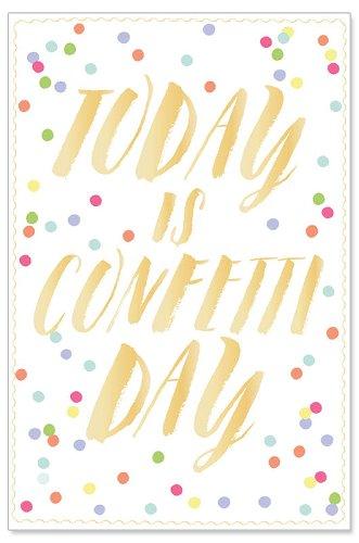 Geburtstagskarte Konfetti Today is Confetti Day