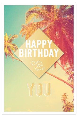 Geburtstagskarte Palmen