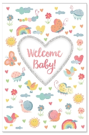 Karte Baby Welcome Baby Herz