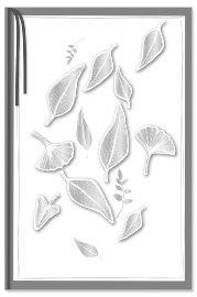 Trauerkarte Blätter 3D