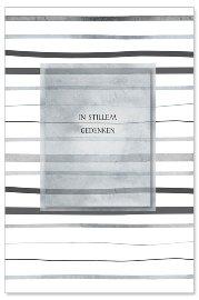 Trauerkarte Streifen 3D Grau