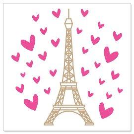 Minikarte Eiffelturm Herzchen