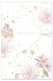 Hochzeitskarte Blumen 3D Spruch Zur Hochzeit