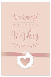 Hochzeitskarte Schleife Spruch Warmest wedding wishes