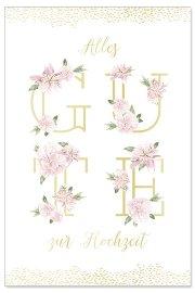 Hochzeitskarte Blüten