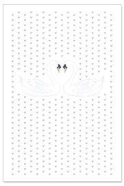 Hochzeitskarte Schwäne