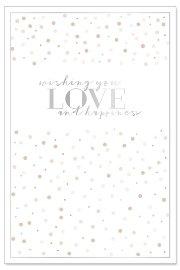Hochzeitskarte Konfetti Spruch Wishing you love and happiness