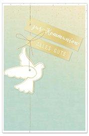 Kommunionskarte Taube Spruch Zur Kommunion Alles Gute