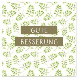 Minikarte Blätter Spruch Gute Besserung