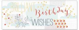 Geburtstagskarte Birthday Wishes