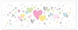 Grußkarte DIN lang Herzen