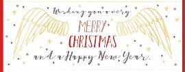 Weihnachtskarte Engelsflügel