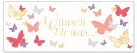 Karte Wünsch Dir was Schmetterling