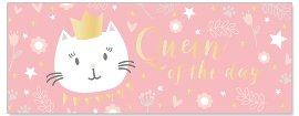 Grußkarte DIN lang Katze Queen