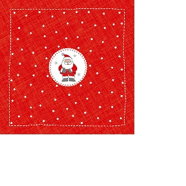 Serviette Santa Mini Rot