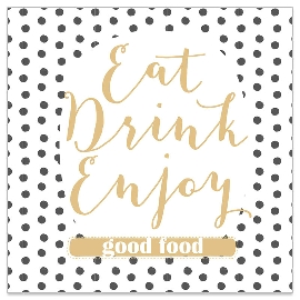 Serviette Eat Drink Enjoy