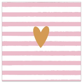 Serviette Golden Heart