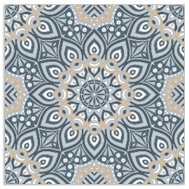 Serviette Mandala Anthrazit