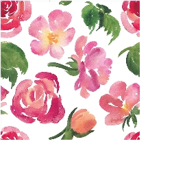 Serviette Mini Aquarellblumen Beere