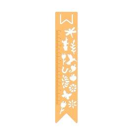 BuJo Metall Schablone Lesezeichen Gold Pflanzen & Tierwelt
