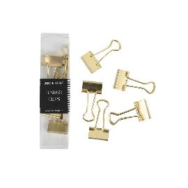 Papierklemmen Binder Clips Gold Uni