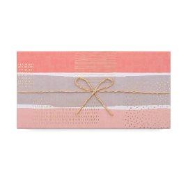 Geschenkbox Schleifchen Streifen Rosa