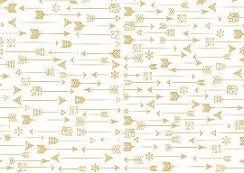 Geschenkpapier Finest Pfeile Weiß Gold