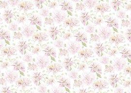 Geschenkpapier Blüte Rosé