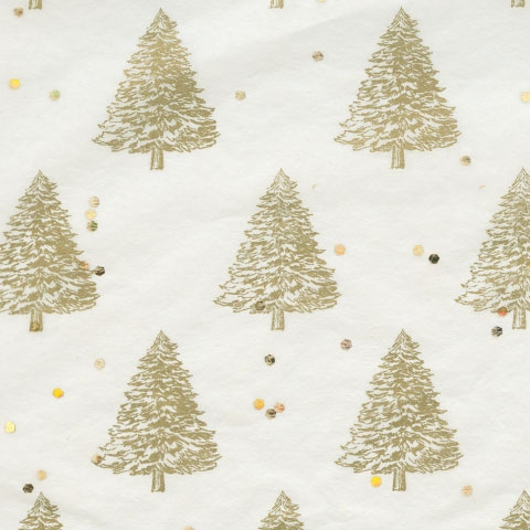 Seidenpapier Weihnachtsbäume Gold
