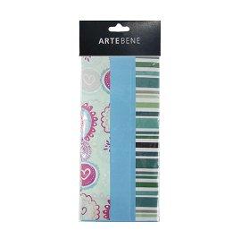 Seidenpapier Mix Blüte Streifen Uni