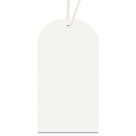Geschenkanhängerset Weiß