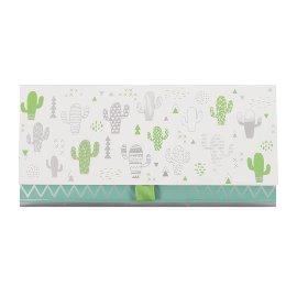 Geschenkumschlag Kaktus Grün