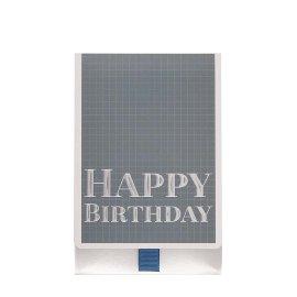 Geschenkumschlag Happy Birthday Blau B6