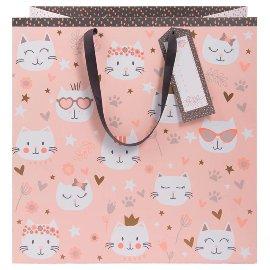 Geschenktasche Katze Mizzy Rosa