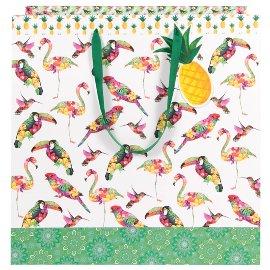 Geschenktasche Vögel Multicolour XL