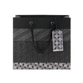 Geschenktasche Muster Schwarz