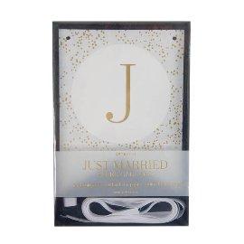 Papiergirlande Just Married