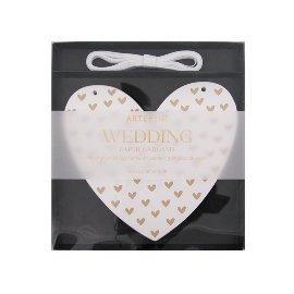 Papiergirlande Hochzeit Herzen Glitter