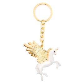 Schlüsselanhänger Einhorn Gold