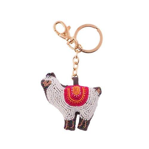 Schlüsselanhänger Perlen Lama