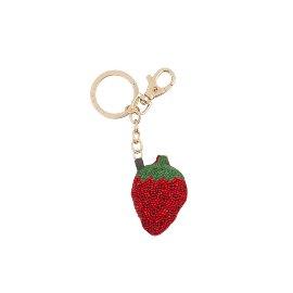 Schlüsselanhänger Perlen Erdbeere