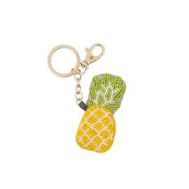 Schlüsselanhänger Perlen Ananas